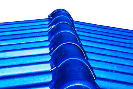 roof shingles: Roof house with tiled roof