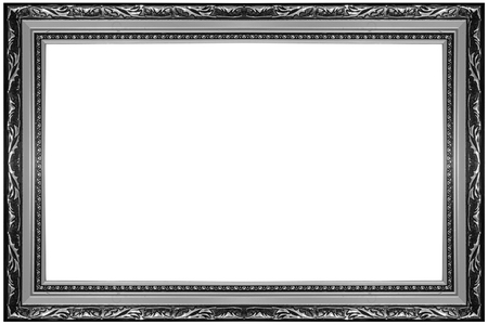 blank frame on a white background Banco de Imagens