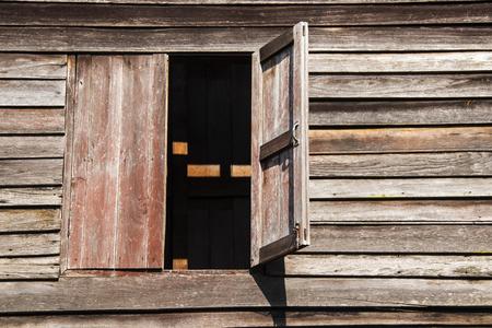 wooden floors: Old window.wood background. Thai style.