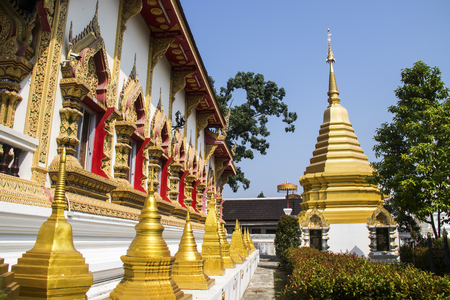 pagoda in thai temple, Thailand Stock Photo