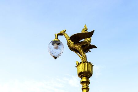 thai bird lantern in temple