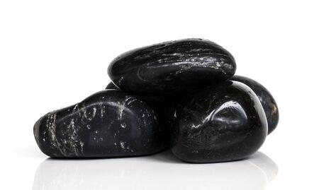 black stone isolated on white background