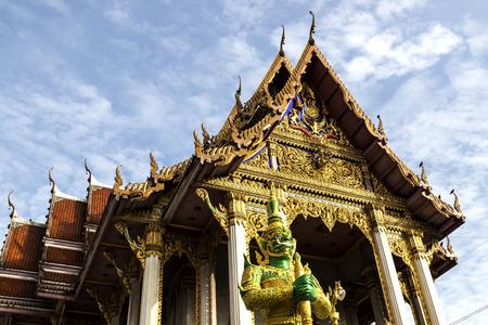 giant statue at Wat Don Mueang Bangkok Editorial