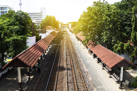 Samsen Railway Station, Thailand in broad daylight Editorial