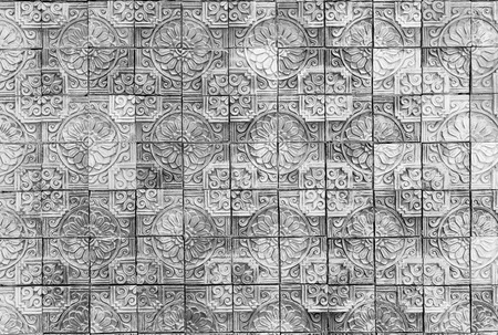 Stone carving of flower pattern
