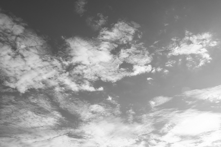 Black and white sky with clouds background