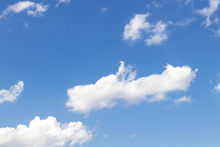 Blue sky background with clouds Stock Photo