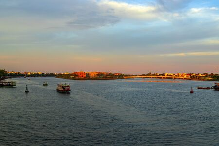 View of river in Hoi An, Vietnam. Hoi An is the World's Cultural heritage site. Foto de archivo