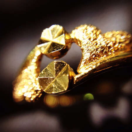gold: Close up of a Gold Ring .
