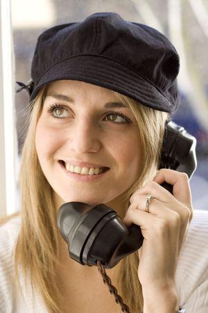 Lady on telephone