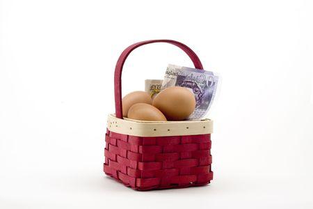 inflation basket: T Don & iuml & iquest & frac12, pone todos los huevos en una canasta de aislados