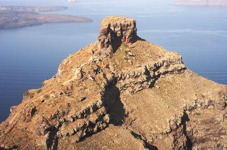 Mountain top, Skaros on Santorini, Greece Stock Photo