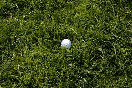 rough: Golf ball in the rough Stock Photo