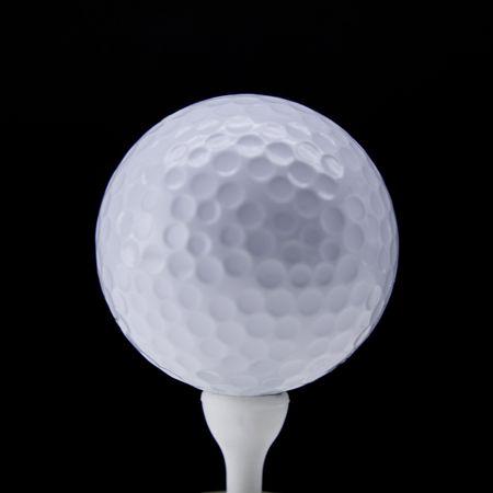 Golf ball tee up  Stock Photo