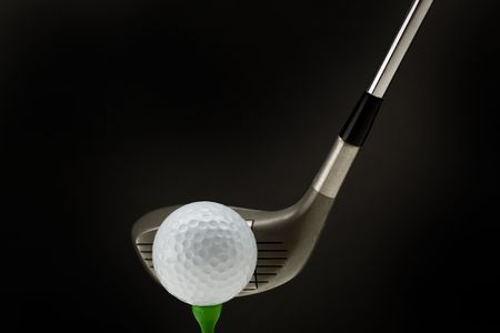 Golf ball tee off  Stock Photo