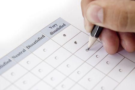 Dissatisfied customer service survey