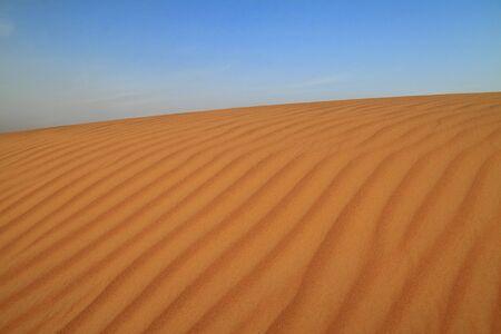 Desert dune with ripple texture Stock Photo