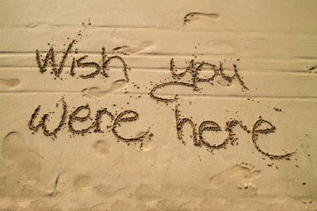 Ojalá estuvieses aquí Foto de archivo