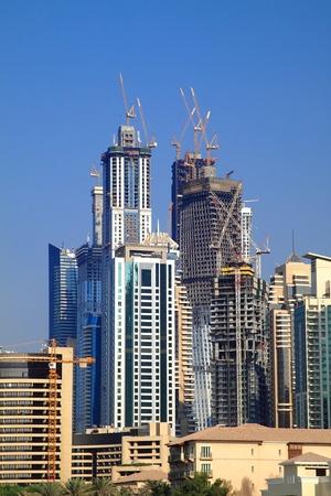 Dubai construction skyline