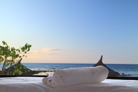 masaje: Masajes y spa de playa  Foto de archivo