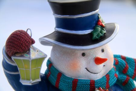 Close up of detailed snowman