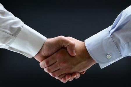 Isolated business handshake Stock Photo