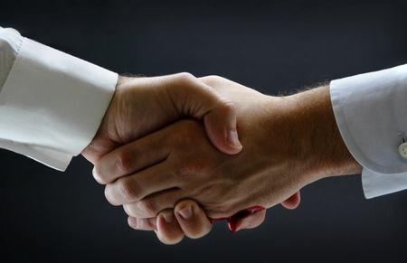 Isolated risky business handshake
