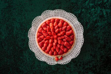 fresh home made strawberry cake