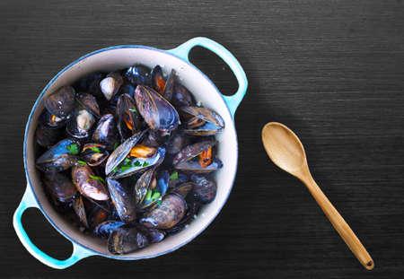 Belgian food, Steamed Mussels