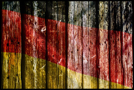 Wooden germany flag Stock Photo