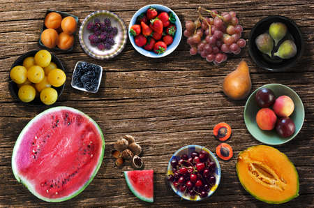 Fresh and healthy summer fruits
