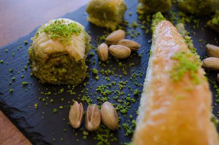 Pistachio baklava varieties and pistachio nuts