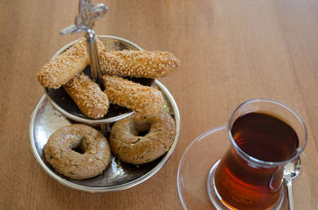 tea and cookies Stok Fotoğraf