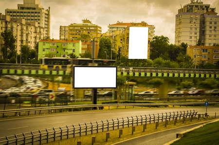 Big billboard in trafic