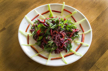 mideast: Onion salad Stock Photo