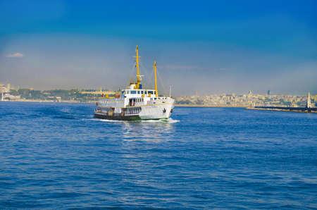 istanbul ferry sailing in to bosphorus sea istanbul turkey