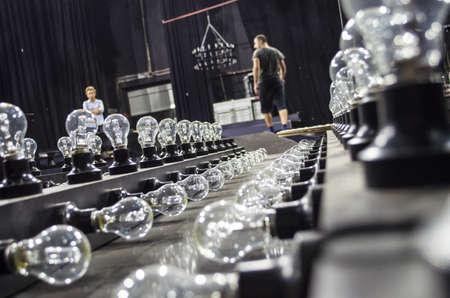 light bulbs for studio preparations Foto de archivo