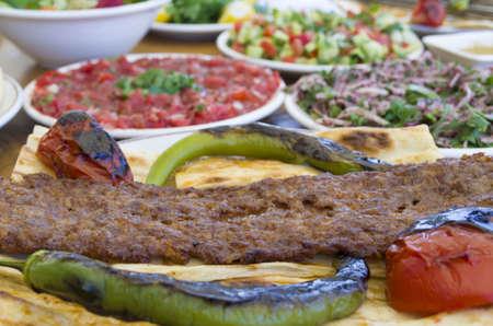kebab plate, kebab menu