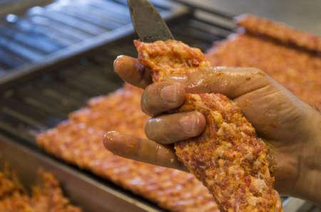 kebab to making Stock Photo