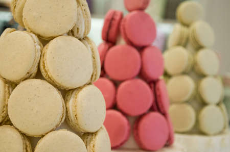 a french sweet delicacy macaroons Stock Photo