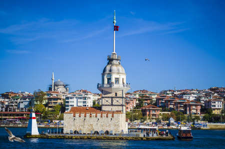 The maidens tower in istanbul turkey