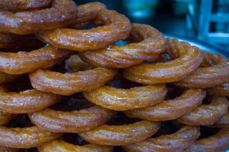 traditional turkish ring sweets; ring dessert Stock Photo