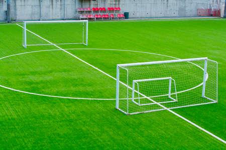 amateur soccer team training field Stockfoto