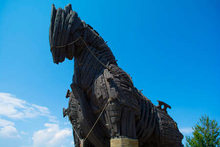 Trojan Horse in canakkale; Turkey Stock Photo