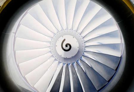 background, blade turbine engine civil aircraft closeup Reklamní fotografie