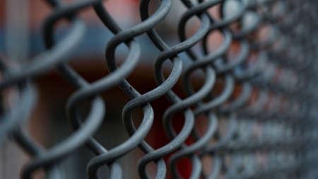 macro of the metal net picture