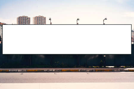 Empty blank billboard in Istanbul City. Urban city setting. Reklamní fotografie