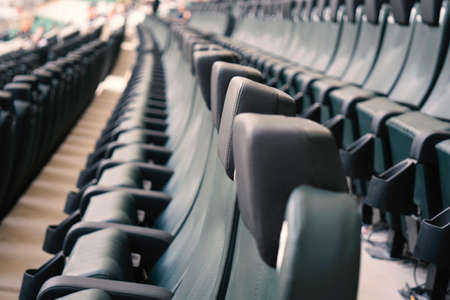 Abstract shot of rows of seating in a sports stadium Imagens