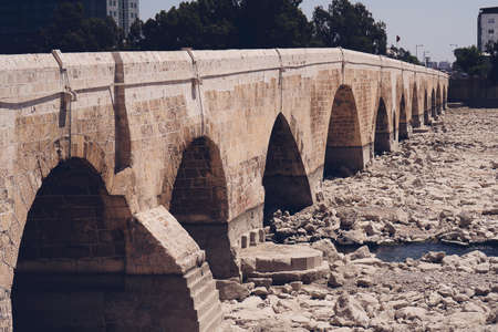 The Stone Bridge in Adana, Turkey Stock Photo