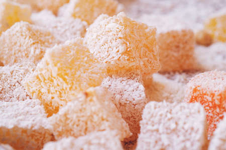 Assorted Turkish Delight bars (Sugar coated soft candy)